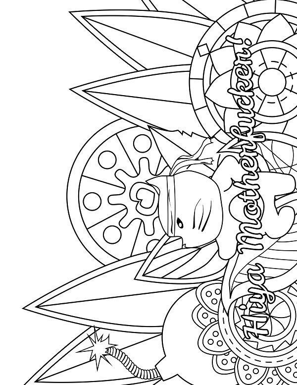 Karate Adult Coloring Page Swear 14 Free Printable Coloring Pages Visit Swearstressaway Com To Download And Print 14 Swear Word Colori Adult Coloring Pages