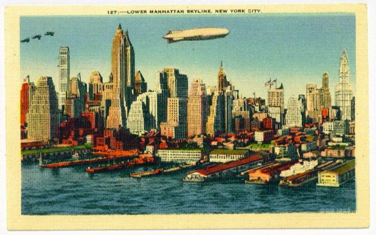 American vintage postcards
