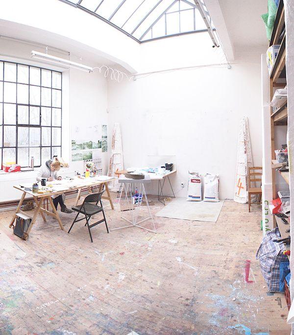Studio in Vysocany where Czech designer Roman Kvita works.
