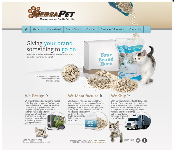 Versa Pet website by Fusion Studios Inc.