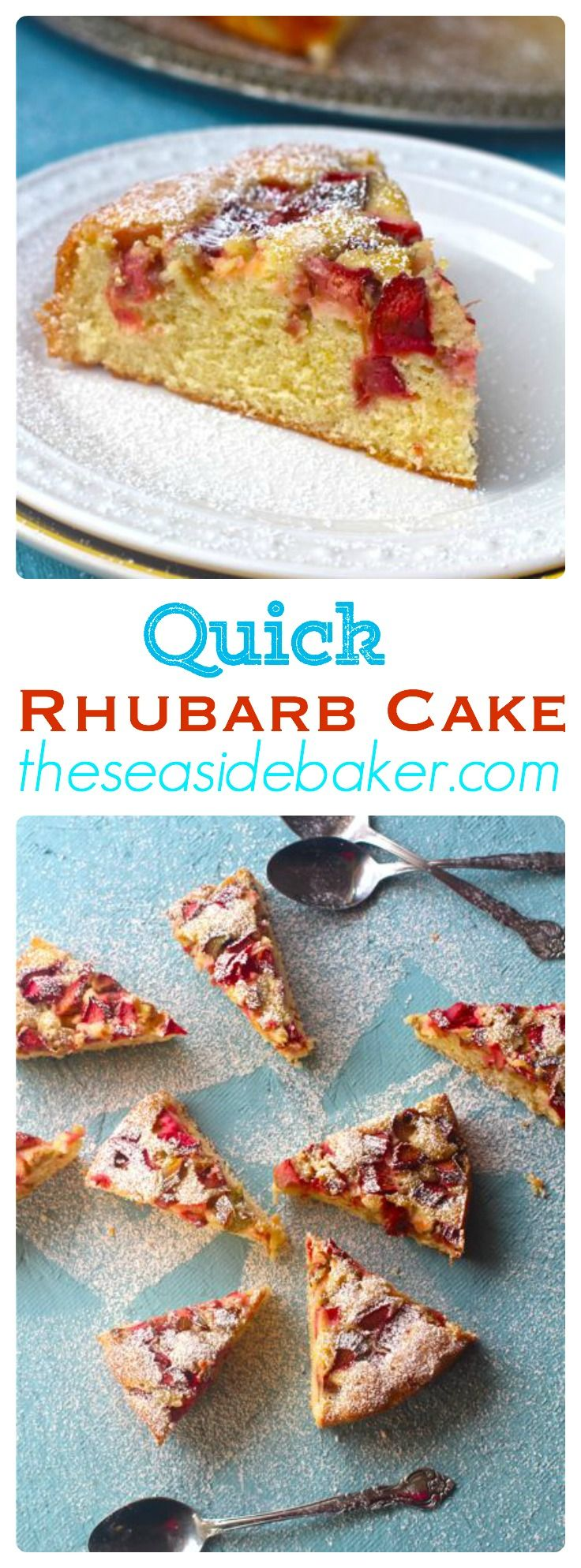 Award winning rhubarb cake that is easy to make and delicious! (cookie bowls easy)