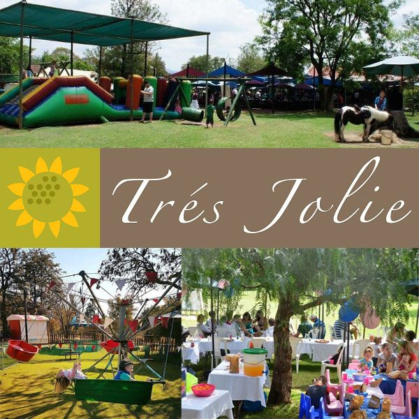 Trés Jolie is a country restaurant and venue in the Ruimsig area of Gauteng. Located on a 5 hectare property it is characterised by exquisite gardens and landscaped with fountains and water features this picturesque restaurant also boasts a farmyard where children can feed the animals, enjoy a pony ride and play whilst under the watchful eye of their parents.