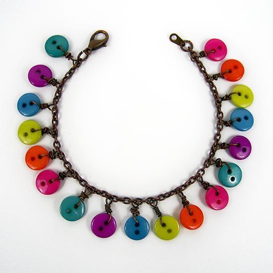 DIY Button : DIY Wire Wrapped Button Bracelet