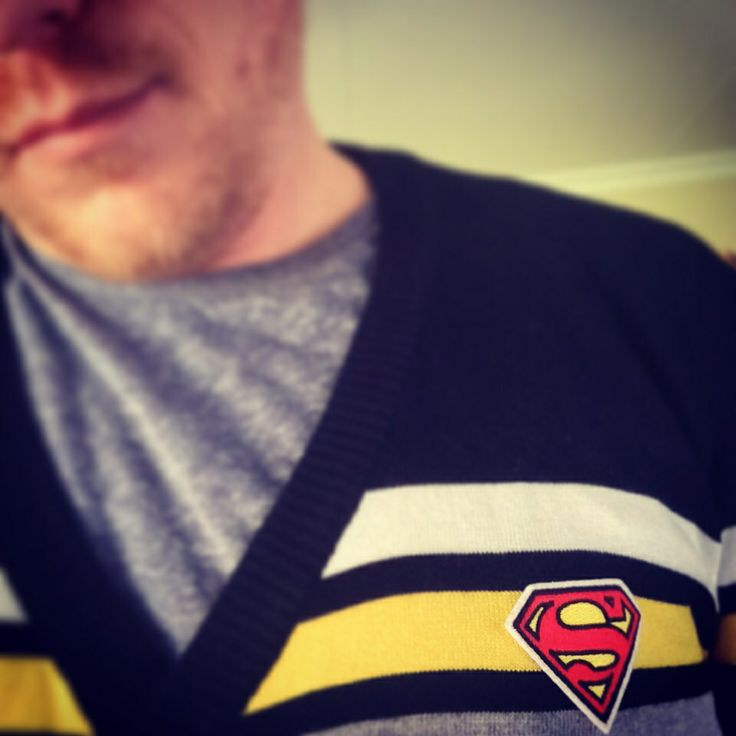 Cool Superman top I got from my brother! #superman #ClarkKent #teamsuperman #comics #DC #DCUniverse #geek #selfie