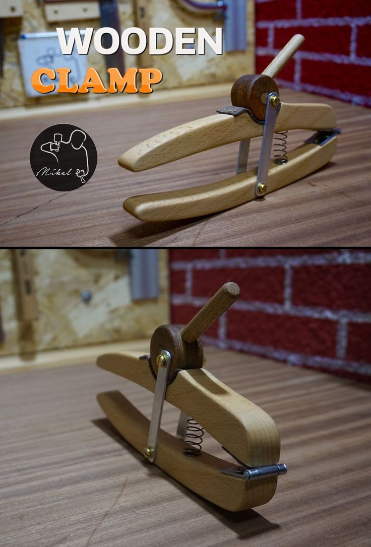 Cheap and effective wooden clamp.