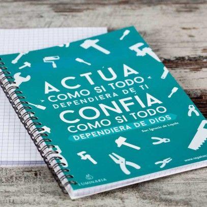 "Cuaderno ""Actúa... Confía"" - Luminaria Regalos Cristianos"
