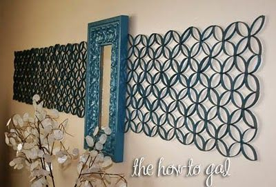 Cardboard tube wall art