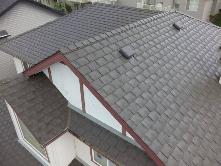 Heritage Slate in Charcoal Black #Slate #Black #roof #authenticlook #rubber #roofingmaterial #lifetimewarranty #contractor #shingles #renos #home #design #durable #affordable #premiumroofing