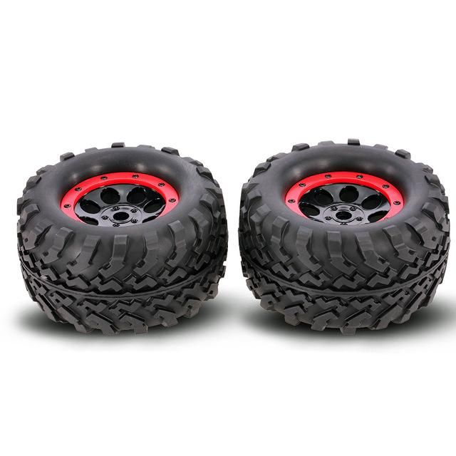 2Pcs AUSTAR AX-3011 155mm 1/8 Monster Tires with Beadlock Wheel Rim for TRAXXAS SUMMIT E-Revo HPI Savage XL Flux HSP RC Car