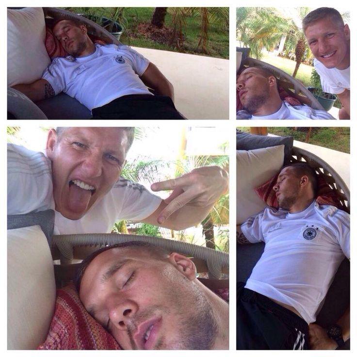 Bastian Schweinsteiger uns Lukas Podolski