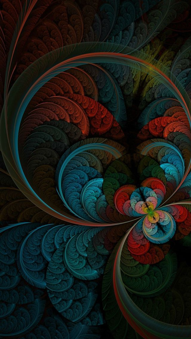 Abstract Feather IPhone 5s Wallpaper