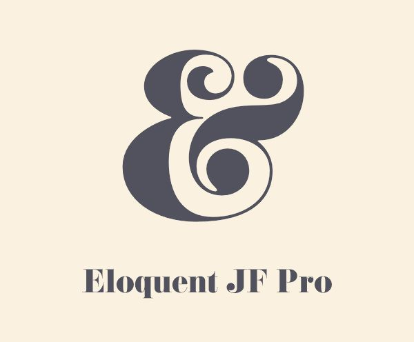 Eloquent JF Pro (Pistilli Roman). Regarded by many as having the best ampersand of all time with its elegant swashes.