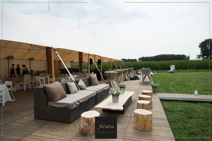 FERIATUS - Wedding - T&K - Romantic - Country - Brown - Wood - Rustic - Lounge - Tent