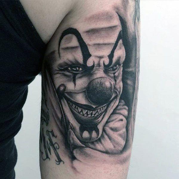 59 best transgender tattoo leg design images on pinterest for Clown tattoos for men