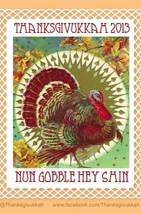 There are already posters and T-shirts on sale. Thanksgivukkah even has its own Facebook page and Twitter account. | How To Celebrate Thanksgivukkah, The Best Holiday Of All Time