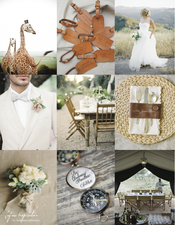Safari,  Game farm Destination Wedding Inspiration board by Bohemia Africana