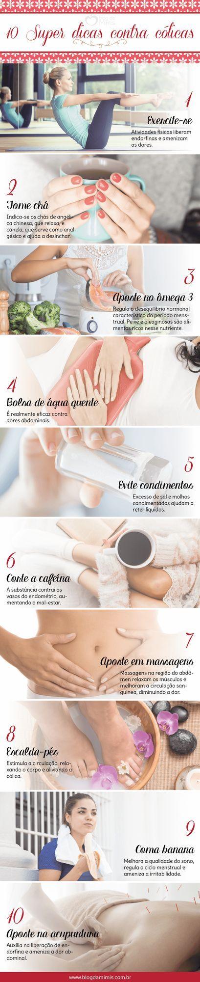 10 Super dicas contra cólicas