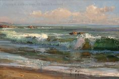 Surf Dodgers - Oil by Kathryn Stats