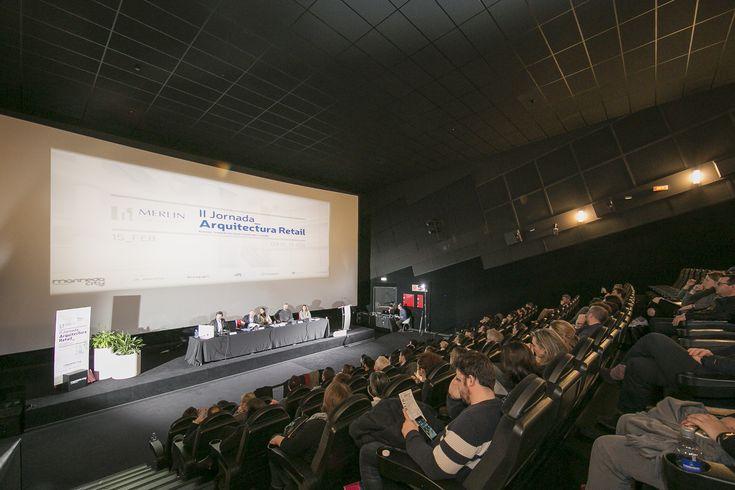 II Jornada De Arquitectura Retail organizada por Merlín Propierties en Marineda City (La Coruña) - 15 Febrero 2018. Ramon Ramirez (socio fundador de B+R Arquitectos) como participante de la mesa redonda presentando #XMadrid, el nuevo Centro Comercial.  Foto por Marineda City