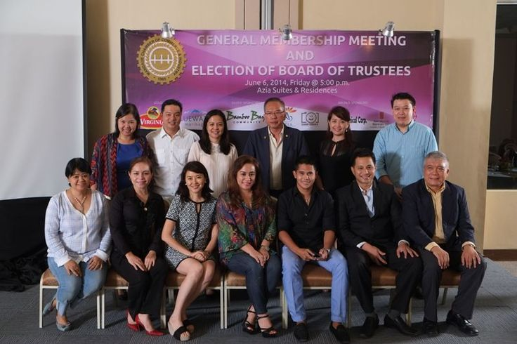The newly elected Board of Trustees of the Mandaue Chamber of Commerce & Industry taken during the General Membership Meeting last June 6, 2014.
