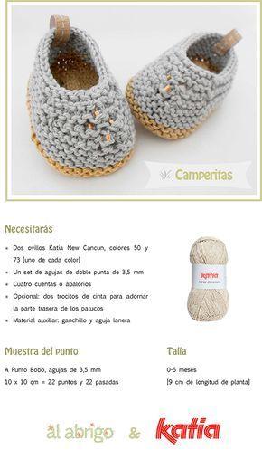 Craft Lovers ♥ Camperitas por Al abrigo   http://www.katia.com/blog/es/craft-lovers-patron-punto-patucos-camperitas-al-abrigo/