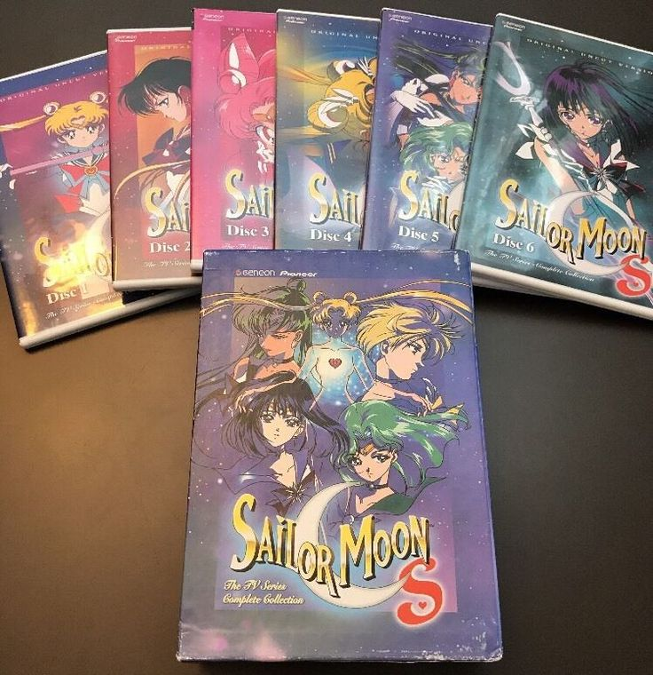 Sailor Moon S Complete Collection Box Set 6 disc DVD 2004 AUTHENTIC TV Series  | eBay