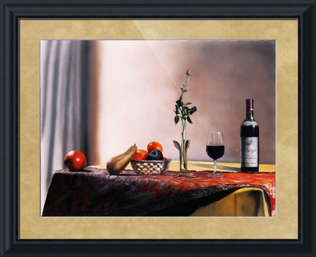 """""""Villa Cafaggio Still Life"""" by Matthew Bates, Firenze, Italy // Serve yourself a tall glass of Villa Cafaggio!When you buy this or any other of my Imagekind(TM) prints, send them to me and I will personally sign the print and send it back to you with a certificate of authentication which will increase the value of the print by a factor o... // Imagekind.com -- Buy stunning fine art prints, framed prints and canvas prints directly from independent working artists and photographers."""