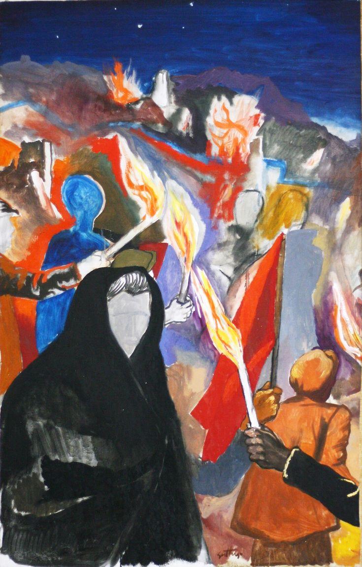 da IlPost - La notte di Gibellina di Renato Guttuso. Museo civico di Gibellina