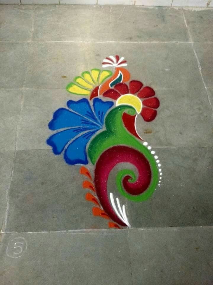 Indian Rangoli, Diwali Rangoli, Easy Rangoli, Diwali Craft, Rangoli Designs  Diwali, Rangoli Patterns, Rangoli Borders, Rangoli Ideas, Small Rangoli