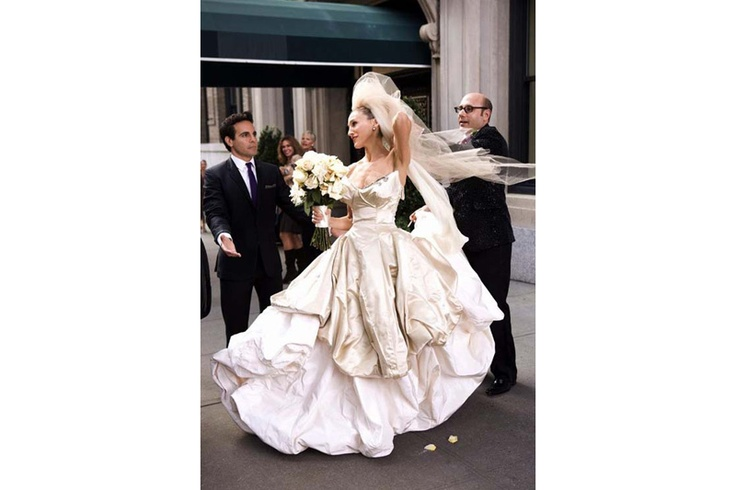 Carrie Bradshaw's wedding dress in the Sex & The City movie