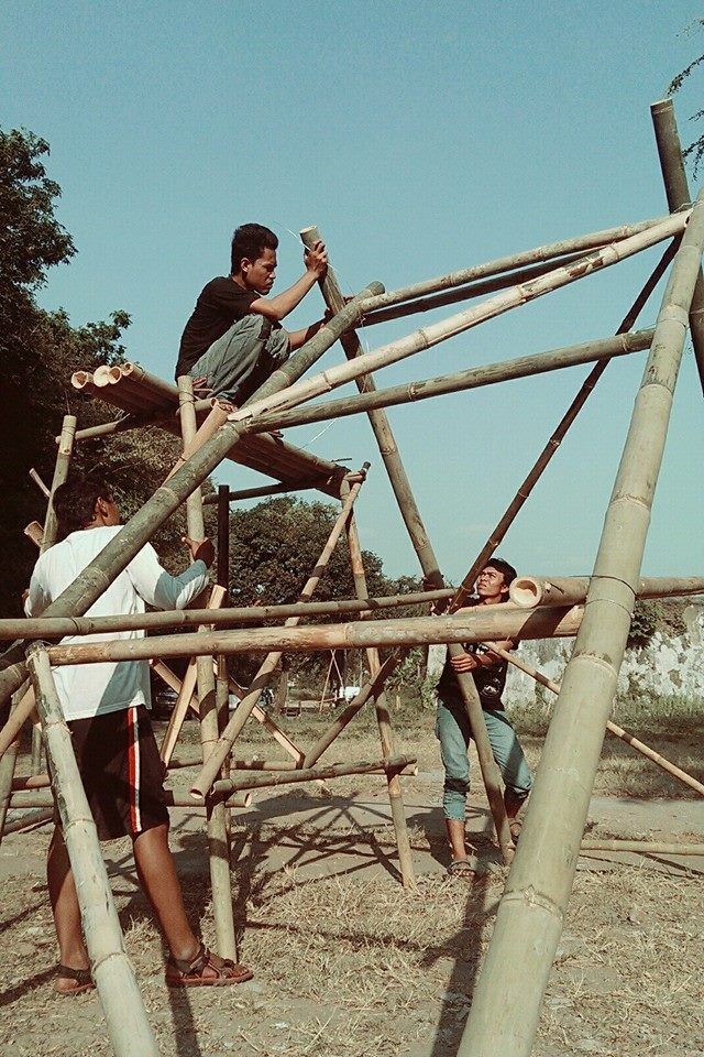 CALMBOO shelter, bamboo biennale (born) solo, central java #bamboo #installation #architecture #bamboobiennale