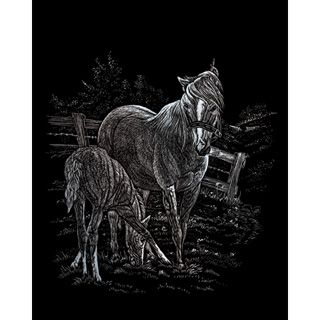 Royal® Engraving Art Kit - Silver Foil - Mare and Foal