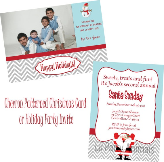 DIY Printable Christmas Party Invite or by LilPartyAnimals on Etsy, $12.00