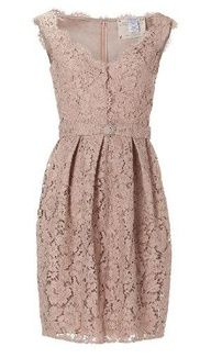 lace taupe dress  @Casey Miller likey?