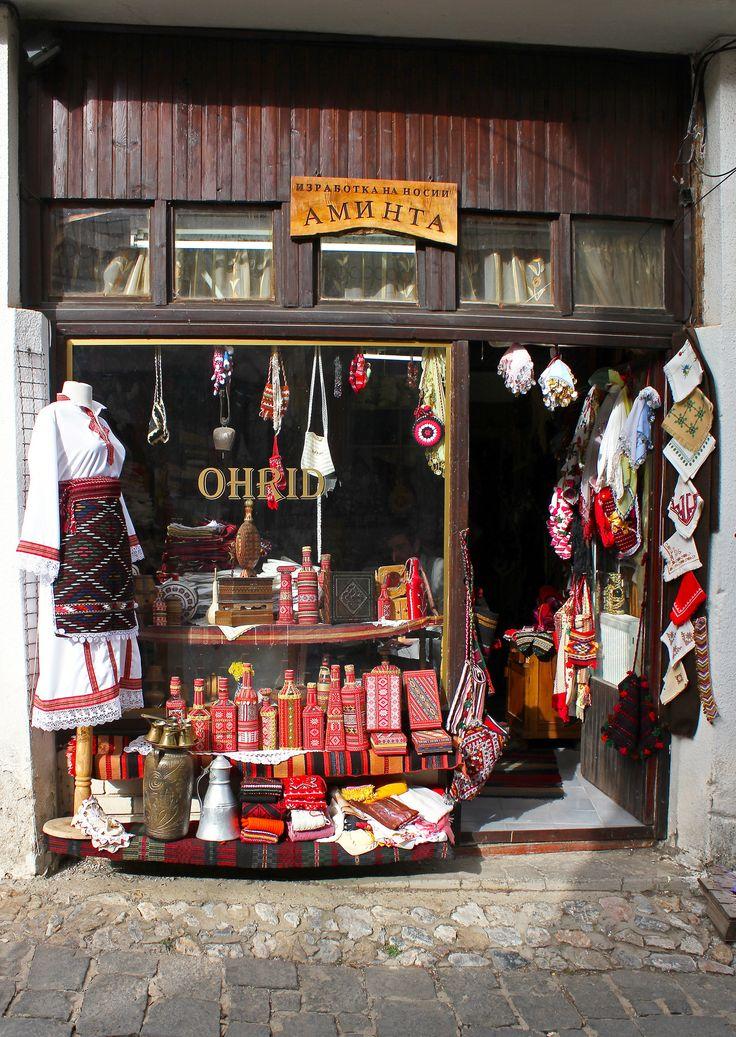 Souvenir shop in Ohrid_ Republic of Macedonia