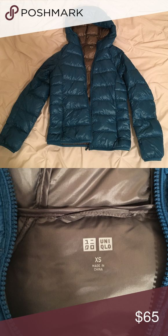 Uniqlo jacket Extremely light weight, down jacket, blue, very soft, keeps you very warm, only worn a couple of times Uniqlo Jackets & Coats Puffers
