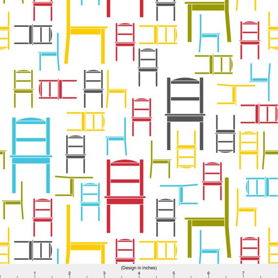 1 yard (or 1 fat quarter) of chairs by designer newmomdesigns. Printed on Organic Cotton Knit, Linen Cotton Canvas, Organic Cotton Sateen, Kona Cotton, Basic Cotton Ultra, Cotton Poplin, Minky, Fleece, or Satin fabric.  Available in yards and quarter yards (fat quarter). This fabric is digitally printed on demand as orders are placed. Unlike conventional textile manufacturing, very little waste of fabric, ink, water or electricity is used. We print using eco-friendly, water-based inks on…