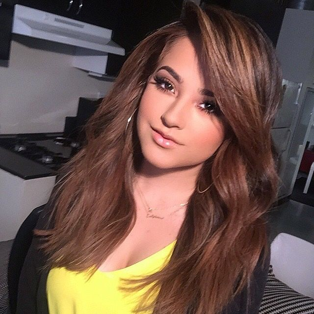 Becky g hairstyles side bangs