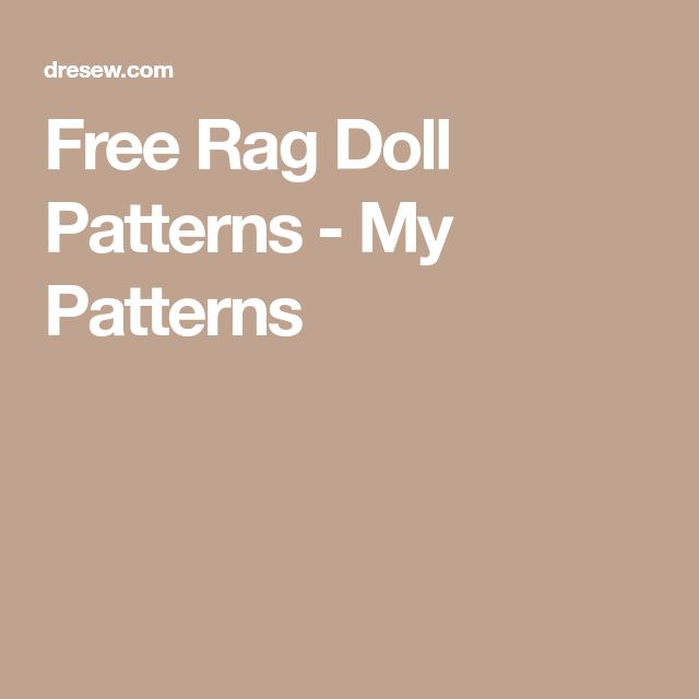 how to make a rag doll body