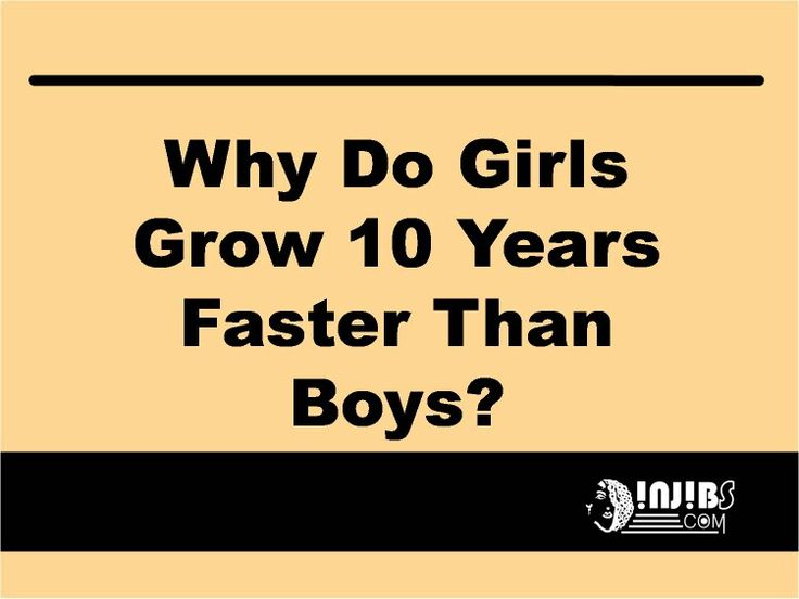 Injibs quotes  WHY DO GIRLS GROW 10 YEARS FASTER THAN BOYS?