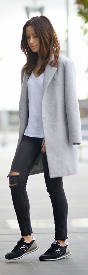 Friend In Fashion is perfectly showing of the normcore fashion trend with a simple coat from The Fifth
