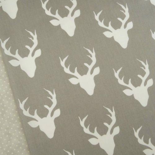 Art-Gallery-Buck-Forest-Mist-Fabric-quilting-interior-stag-head-deer-grey