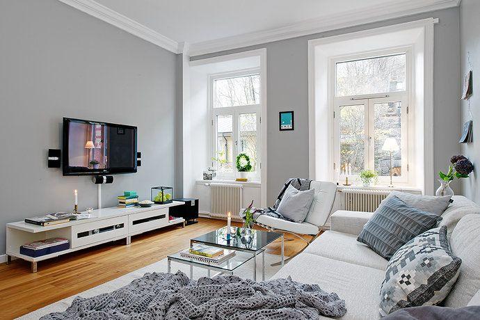 Bilder, Vardagsrum, Soffa, Grått - Hemnet Inspiration