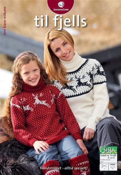 1011: Modell 1A&B Reinsdyrgenser og leggvarmere #strikk #knit #fjells