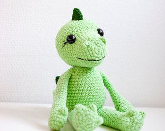 Amigurumi dragon dinosaur pattern by SofiaSobeidePatterns on Etsy