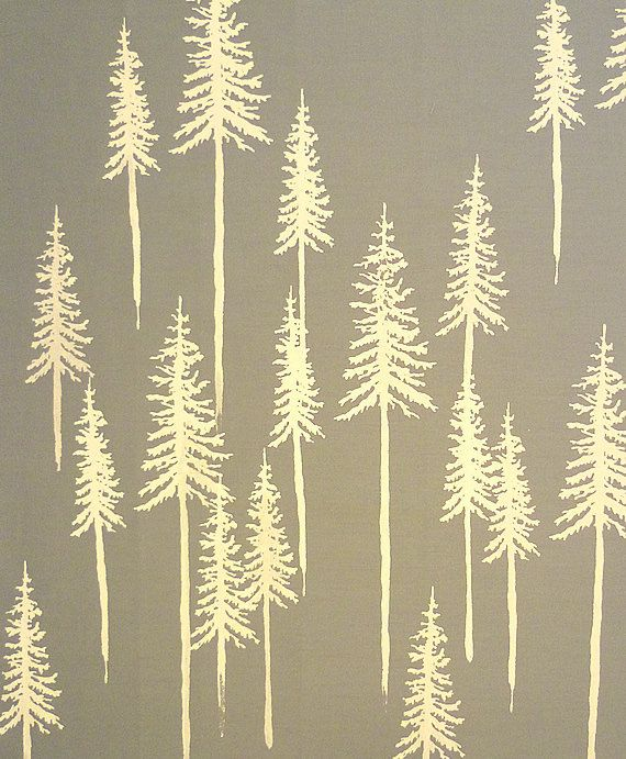 Forest of Pine Trees Screen Printed Fat Quarter