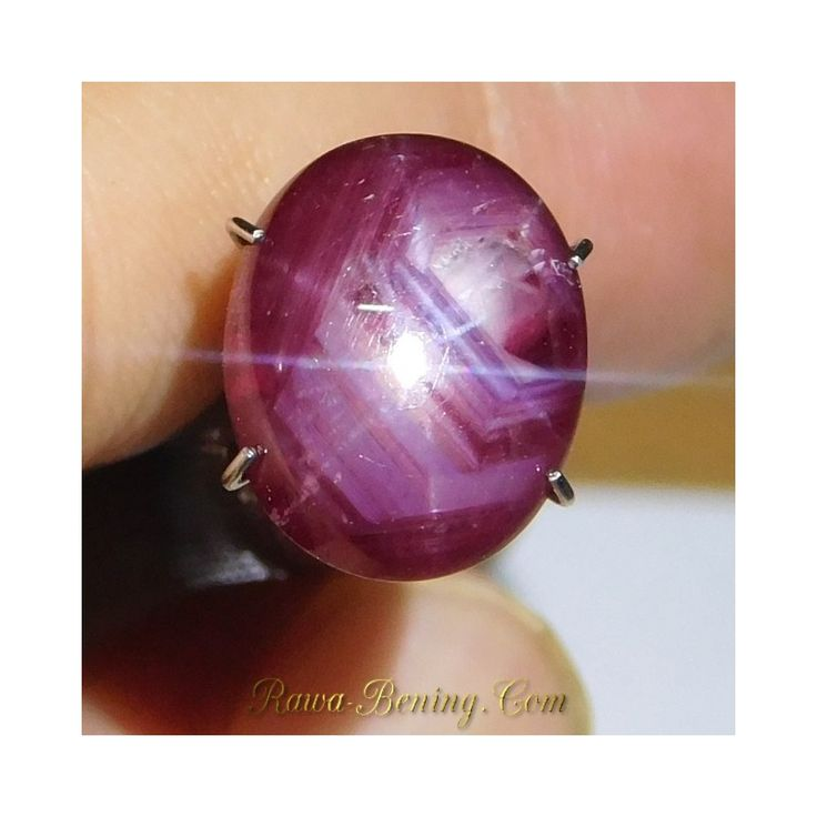 Jual Batu Mulia Natural Star Ruby Purplish Red Oval Cab 6.40 carat