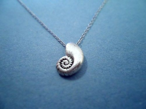 Little Mermaid, Ariels Voice Shell, Vintage, Silver Plated, Necklace | simplecrystal - Jewelry on ArtFire