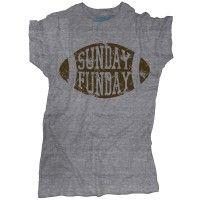 Vintage Football T-Shirt   Retro Sunday Funday Tee   One 10 Threads