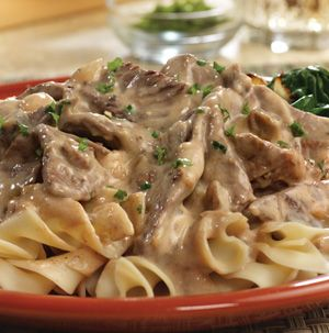 Beef Stroganoff is now longer one of those dishes that takes hours and hours to simmer. This version is ready in minutes!
